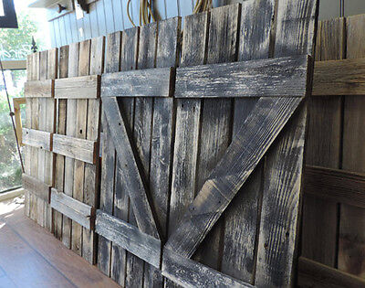"Rustic Barn Wood Shutters For Our 46"" X 36"" Window Pane Mirror (24 Colors)"