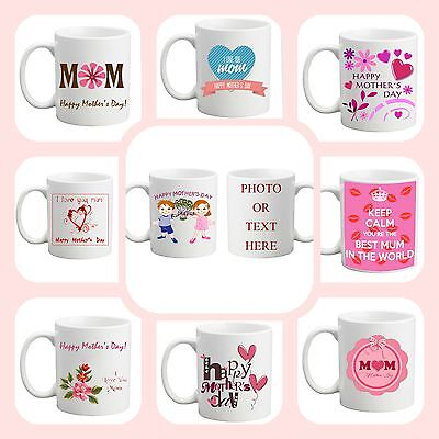 Mother's Day Personalised Gift Best Mum Tea COLOURED Mug Cup Photo Text Love