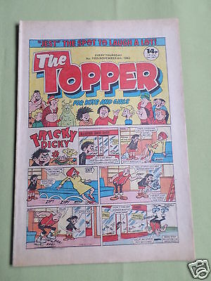 The Topper - Uk Comic - 6 Nov 1982  - #1553- Vg
