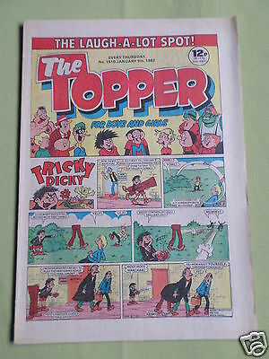 The Topper - Uk Comic - 9 Jan 1982  - #1510 - Vg