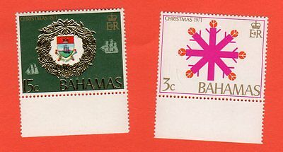 Timbre Neuf Bahamas - 2 Timbres Christmas - Noël - 1971
