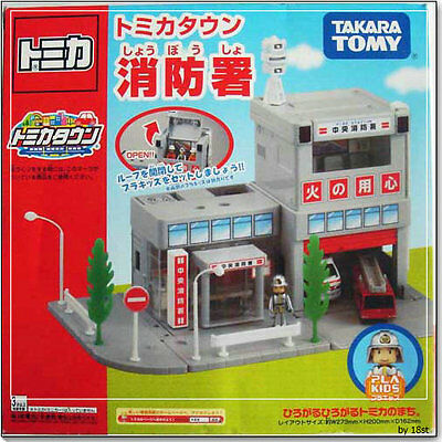 Japan Tomica Town Scene Fire Station Building With Plakids 795711