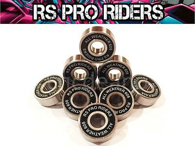 10 X 608 2rs/ss 8x22x7mm ALL WEATHER 100% STAINLESS STEEL SEALED BEARINGS