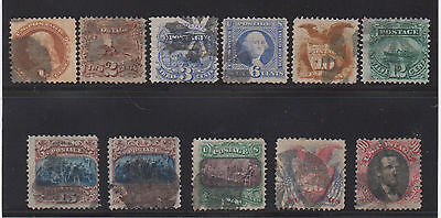 **US, SC# 112-122, Complete Used Set, Some Small Faults