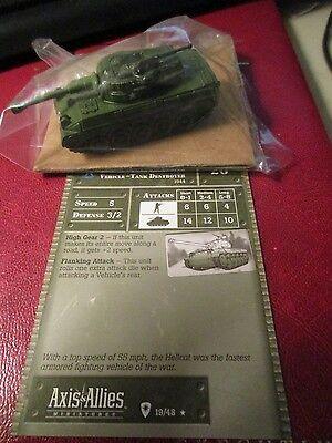 Axis and Allies Base Set US M18 Hellcat  Tank Destroyer Rare