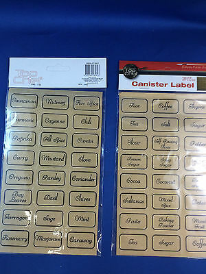 Spice jar labels cannister jar tupperware pantry label 48 clear self adhesive