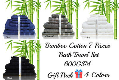 600GSM Bamboo Egyptian Cotton Towel - Bath Towel Hand Towel Face Washer Bath Mat