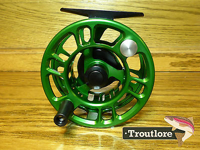 5 / 6 WEIGHT GREEN ANODIZED CNC ALUMINUM w SMOOTH DRAG - NEW FLY FISHING REEL