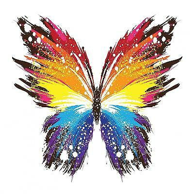 Butterfly Abstract Colourful WALL ART CANVAS FRAMED OR POSTER PRINT