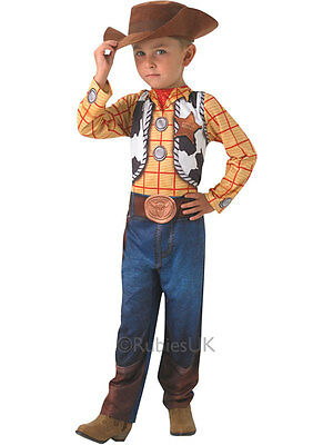 Child 3-4 Years Disney Toy Story Woody Party Fancy Dress Costume & Hat Kids