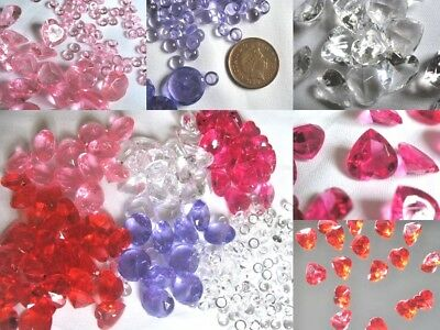Dew drops & large heart round scatter crystals for wedding table decoration
