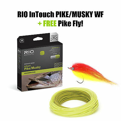 RIO InTouch PIKE/MUSKY FLY LINE WF9F - Fliegenschnur + FREE Pike Fly !!