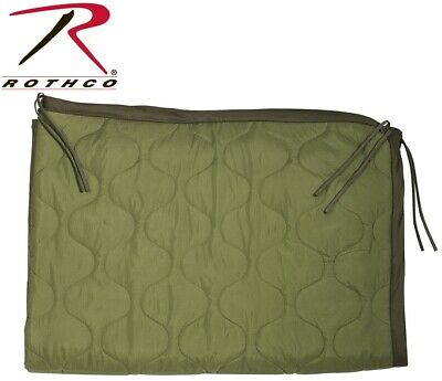 """Poncho Liner OD Military Style Rip-Stop With Ties - 62"""" x 82"""" Rothco 8375"""