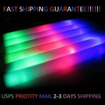 200 Lumitons LED Foam Sticks Light Up Wands Rally Rave Party Concert Batons fast