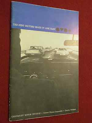 """1962 Chevrolet """"Driver's Education"""" Booklet 30 Pages"""