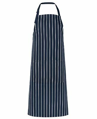 JB's Wear 5BS Bib Striped With Pockets Chef Cook Waitress Apron