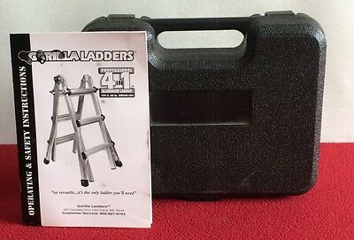 GORILLA LADDERS Static Hinge Set Hard Case Tools Instruction Aluminum Profession