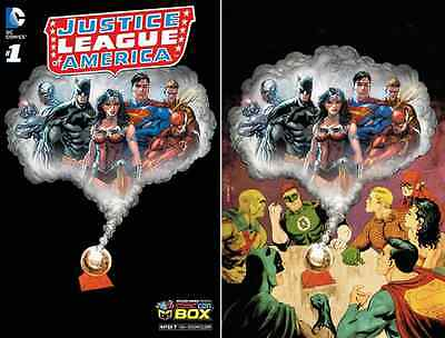 Jla 1 Tyler Kirkham Comic Con Box Die Cut Cover Variant Justice League America