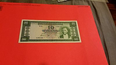 1953? Turkey 10 Lira, just light center fold
