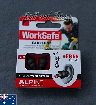 Alpine WorkSafe Earplugs - Hearing protection for working. Tradesman ear plugs