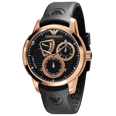 Emporio Armani® watch MECCANICO AR4619 Men`s Black - Rose Gold