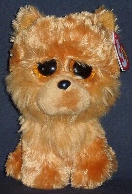 "TY BEANIE BOOS - BARLEY the 6"" CHOW DOG - MINT with MINT TAGS"