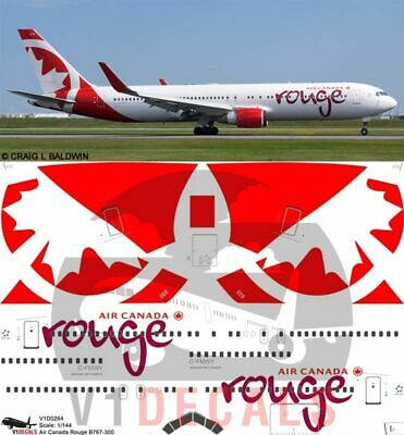 1/144 Air Canada Rouge Boeing 767-300 Decals for Zvezda model