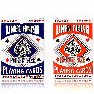 PLAYING CARD SELECTION Full Bridge & Poker Sized Deck Casino Games Garden Party