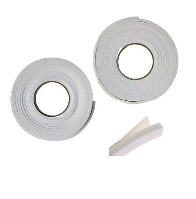 2 ROLL Draught Excluder Tape Seal Doors Windows Foam Weather Strip Insulation