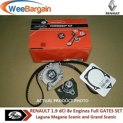 RENAULT Laguna Megane Scenic 1.9 dCi GATES KP15610XS Timing Belt Kit Water Pump