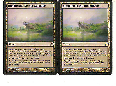 mtg Magic 2x Howltooth Hollow  ( Hondonada Diente Aullador ) Spanish GOOD
