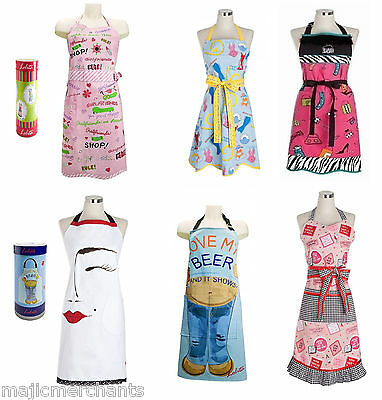 Lolita Novelty Designs Full Apron Kitchen BBQ Gift Party Ladies Cooking Present