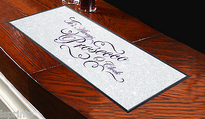 Sparkle Look It's Always Prosecco O'clock Design Bar Runner Cocktail Party