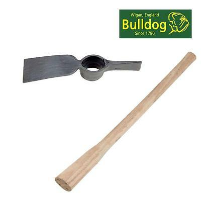 Bulldog Cutting Mattock Set With Wooden Handle For Roots Hard Soil Grubbing Cm5