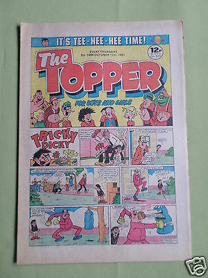 The Topper - Uk Comic - 17 Oct 1981  - # 1498 -Vg
