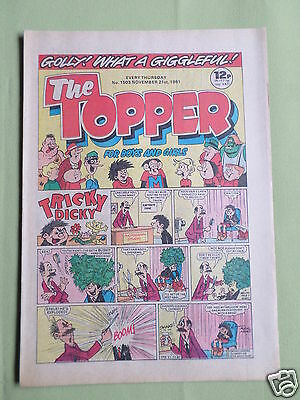 The Topper - Uk Comic - 21 Nov 1981 - # 1503 -Vg