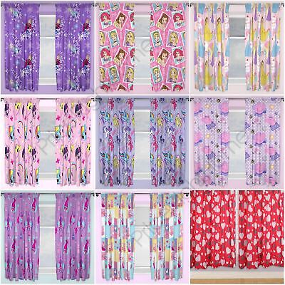 "Girls Curtains Disney Frozen, Peppa Pig, Pony, Lol Surprise + More 54"" & 72"""