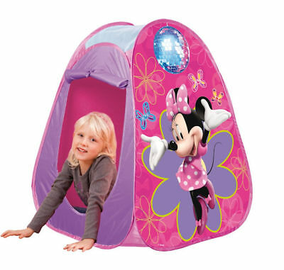 Kids Childrens Disney Minnie Mouse Pop Up Play Tent Wendy House Indoor Outdoor