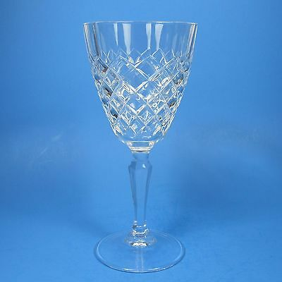 Cristal D'Arques DAUPHINE Water Goblet (s) Clear Glass Criss Cross Diamond