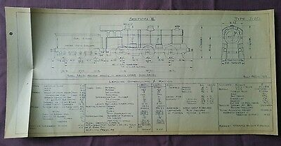 BR era Technical Drawing, Type J20 Locomotive, Section E, 49 by 24cm