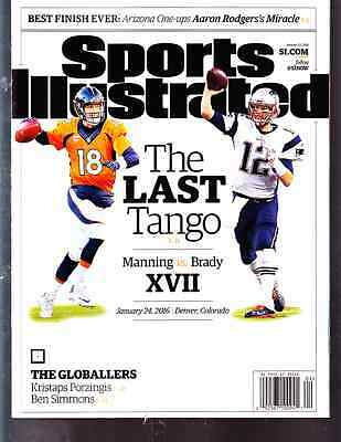 January 25, 2016 Tom Brady and Peyton Manning Sports Illustrated NO LABEL