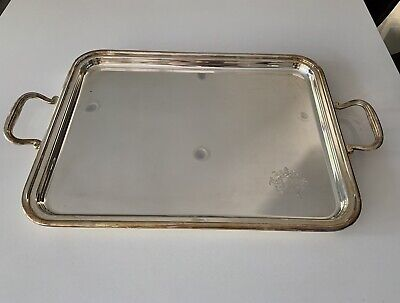 IMPORTANT Garrard & Co. 2003 Sterling Silver English Two Handle Tray 84 oz.