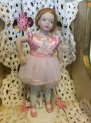 "Vintage Avon Doll Ballet Recital Porcelain Approx 9"" New With Stand"