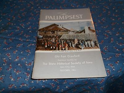 s. Booklet Oct 1961 The Palimpsest Old Fort Crawford  Bruce E Mahan