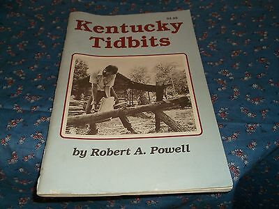 s. Booklet Kentucky Tidbits by Robert A Powell 64 Pages Some Creasing
