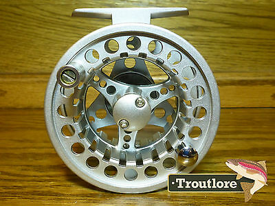5 / 6 Weight Silver Matte Aluminum Reel Flyfisher - New #5 / #6 Fly Fishing Reel