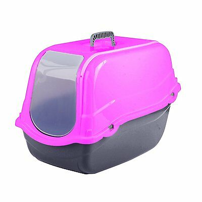 Click & Secure Pet Cat Litter Tray Toilet Box Pink