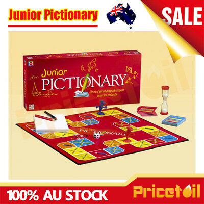 AU Junior Pictionary Board Game Draw Guess Family Party Game Kid Educational Toy