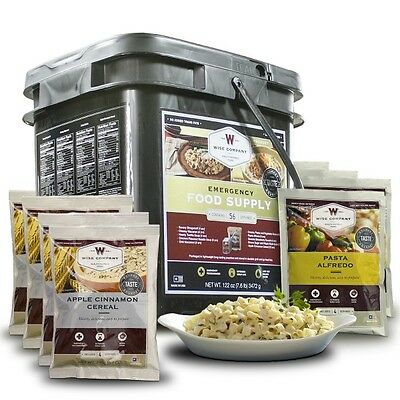 Wise Survival Food Breakfast & Entree Only 56 Servings Disaster Ration Prepper