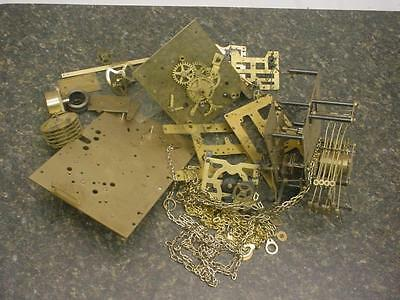 Large Lot of Brass Clock Movements Parts for Repair Steam Punk Altered Art D253